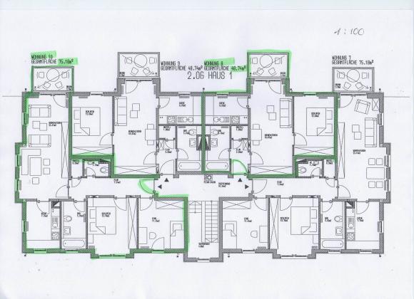 Haus 1, 1. und 2. Obergeschoss